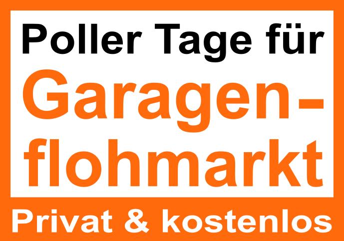 Poller Tag für Hof- und Garagenflohmärkte